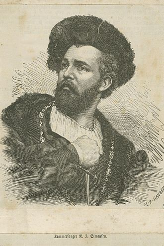 Niels Juel Simonsen - Portrait, collection of the Bergen Public Library.