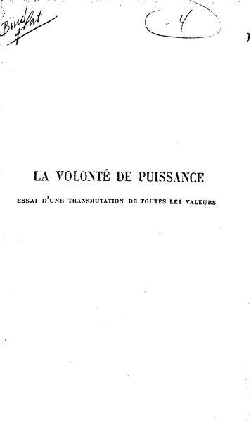 File:Nietzsche - La Volonté de puissance, t. 2.djvu