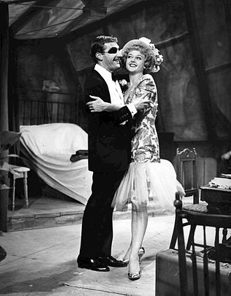 Nigel Davenport - Davenport as Peter with Angela Lansbury as Helen in A Taste of Honey on Broadway, 1960.