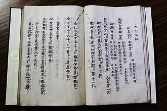 Twenty-Two Shrines - Manuscript of Nijūnisha-chūshiki