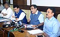 Nitin Gadkari briefing the media after attending the meeting on Maharashtra Irrigation Project and review meeting of the National Highway and National Highway Authority of India, in Mumbai.jpg