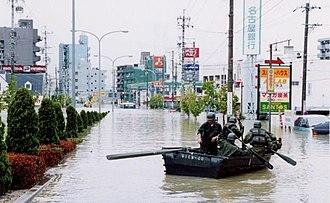 2000 in Japan - A torrential rain and flash flood in 2000 Nagoya flash flood