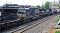 Norfolk Southern Railway - 6935, 9357, & 8379 diesel locomotives (Marion, Ohio, USA) 3 (42503979804).jpg