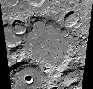 Klaproth (crater) - Clementine image