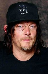 Norman Reedus looking to the front.