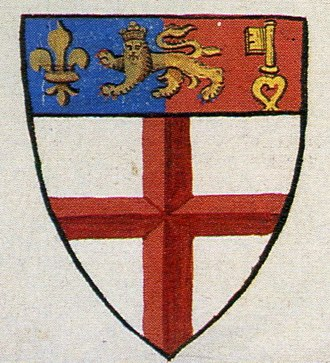 Norroy and Ulster King of Arms - The coat of arms of Norroy King of Arms, taken from Lant's Roll c. 1595