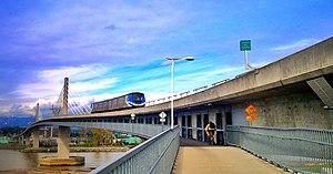 North Arm Bridge - Pedestrian and bicycle pathway beneath the bridge