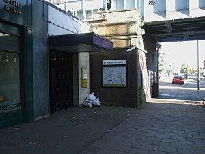 North Harrow tube station - Image: North Harrow stn disused entrance