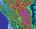 Northern California Coast Mtns Topo Rainbow Zebra 1428.png