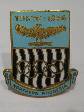 Northern Rhodesia - Northern Rhodesia Olympic Team badge.