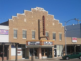 The Twilight Saga: Eclipse - Eclipse on the marquee of the Northrup Theater (Syracuse, Kansas) in August 2010.