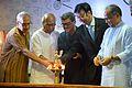 Notable Bengali Persons Lighting Inaugural Lamp - Apeejay Bangla Sahitya Utsav - Kolkata 2015-10-10 4904.JPG
