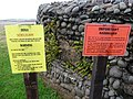Notices beside pillbox, Dunster Beach - geograph.org.uk - 1702233.jpg