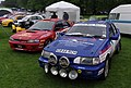 Nottingham Autokarna MMB 07 Subaru Impreza and Ford Escort.jpg