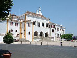 Palácio Nacional de Sintra: fachada.