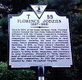 Oakton VA Florence Jodzies Hist Marker.jpg