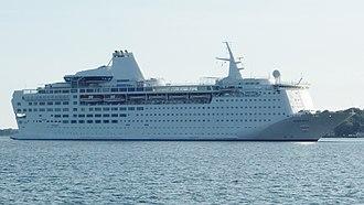 MS Island Escape - Image: Ocean Gala entering Kiel (cropped)