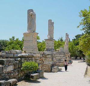 Ancient Agora of Athens - The entrance to the Odeon of Agrippa