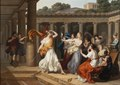 Odysseus Recognises Achilles amongst the daughters of Lycomedes (Louis Gauffier) - Nationalmuseum - 132583.tif