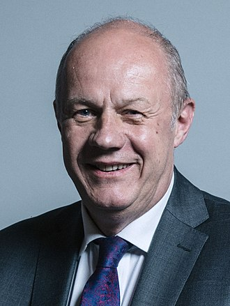 Second May ministry - Image: Official portrait of Damian Green crop 2