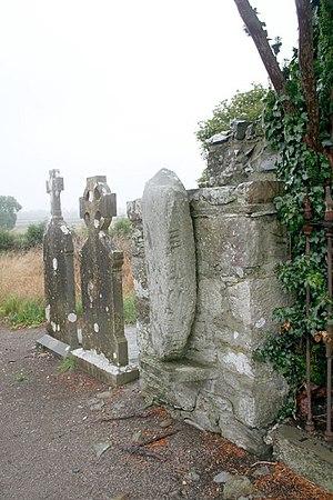 Castlekeeran - Image: Ogham stone, Castlekeeran Church geograph.org.uk 232266
