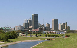 Oklahoma City Skyline from I-35 (cropped).jpg
