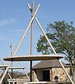 Oklahoma highway rest stop with tepee design over the tables IMG 1762.JPG