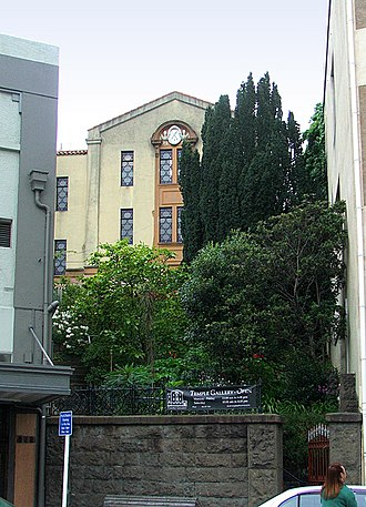 Moray Place, Dunedin - Dunedin's former synagogue, until recently used as an art gallery.