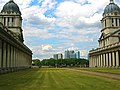 Old Naval Royal College, Greenwich, London, with Canary Wharf in Background. - panoramio.jpg