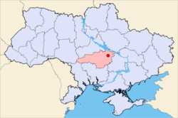 Location of Olexandria