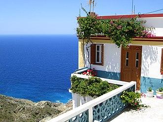 Olympos, Karpathos - Image: Olympos Balcony