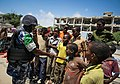 On foot patrol in Mogadishu with an AMISOM Formed Police Unit 14 (8171803740).jpg