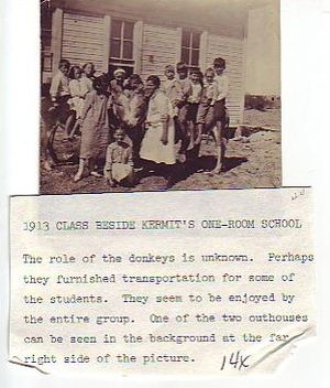 Kermit High School - Kermit's first school in 1913