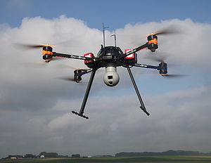 Unmanned aerial vehicle - AltiGator civil drone OnyxStar Fox-C8 XT in flight