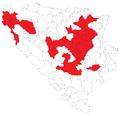 Općine u kojima je pobijedio Željko Komšić, opći izbori 2010.png