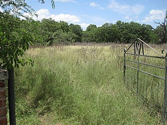 Real County, Texas - Open gate to a grassy field in Real County