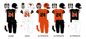 Oregon State Beavers football - Image: Oregon State 2013 Uniforms