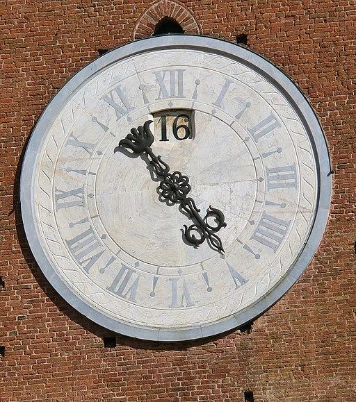 Orologio della Torre del Mangia, Piazza del Campo, Siena