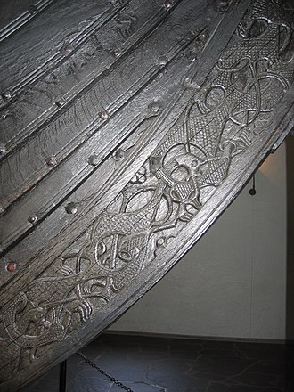 Oseberg Ship - Detail from the Oseberg ship