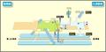 Osu Kannon station map Nagoya subway's Tsurumai line 2014.png