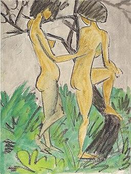 Otto Mueller - Zwei Akte im Freien, 1918-1923