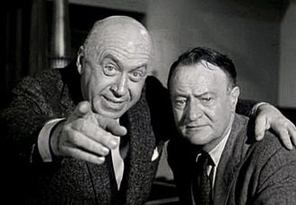 Otto Preminger - Preminger and author John D. Voelker in the trailer for Anatomy of a Murder