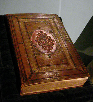 Orientalism in early modern France - Ottoman Empire Qur'an, copied circa 1536, bound according to regulations set under Francis I circa 1549, with arms of Henri II. Bibliothèque nationale de France.