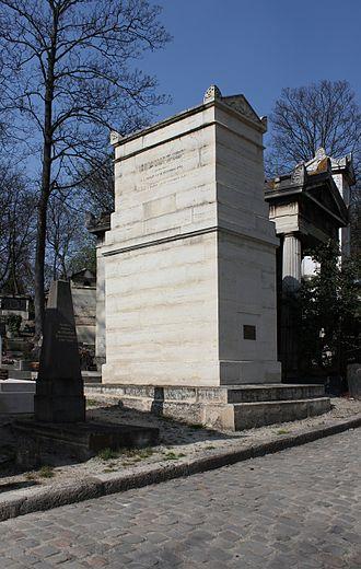 Paul Thiébault - His tomb in the cimetière du Père-Lachaise (division 39).