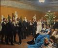 P.S. Krøyer, Selskab i Glyptothekett på Ny Carlsberg, 1888, Ny Carlsberg Glyptotek.png