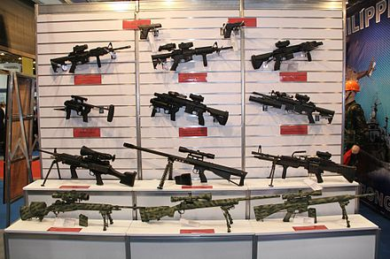 A display of Philippine Navy and Philippine Marine Corps individual weapons during ADAS 2014 - Philippine Marine Corps
