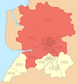 PRESTON (post town) locator map.png