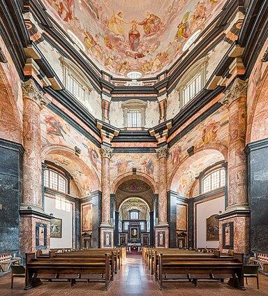 https://upload.wikimedia.org/wikipedia/commons/thumb/3/35/Pa%C5%BEaislis_Monastery_interior_1%2C_Kaunas%2C_Lithuania_-_Diliff.jpg/384px-Pa%C5%BEaislis_Monastery_interior_1%2C_Kaunas%2C_Lithuania_-_Diliff.jpg