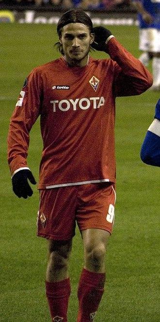 Dani Osvaldo - Osvaldo playing for Fiorentina in 2008