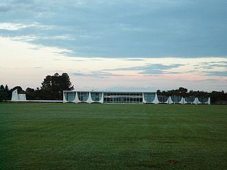 Palácio da Alvorada - The Alvorada at dusk.